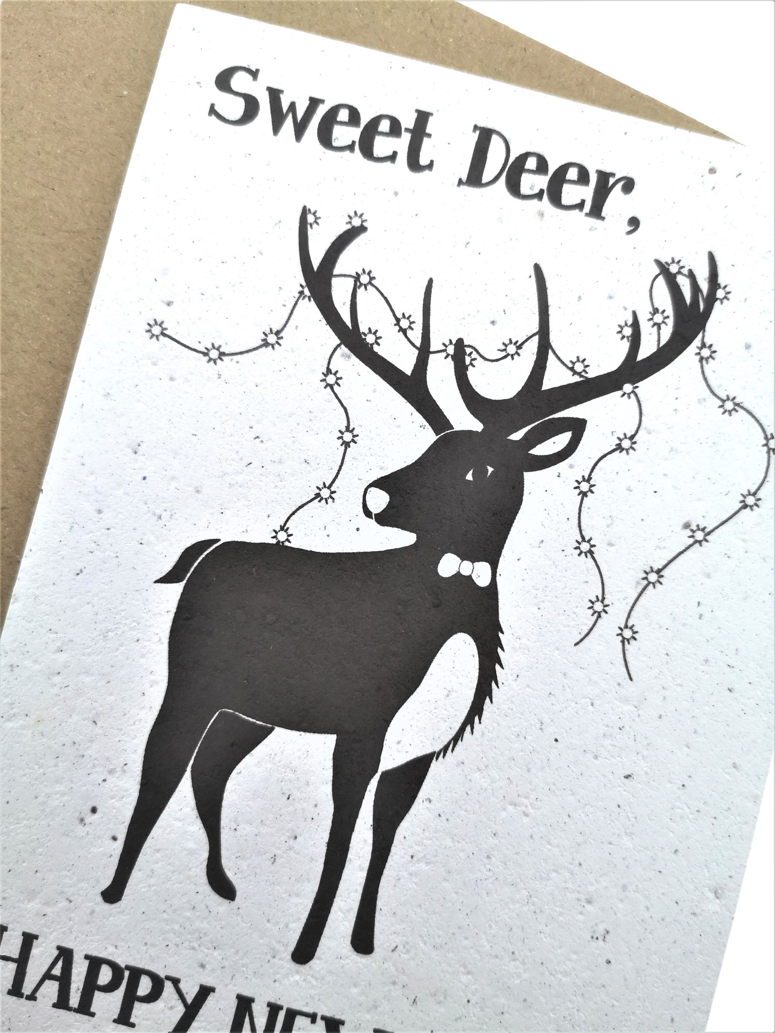 Plantbare kaart -Happy New Year - Sweeet Deer-1