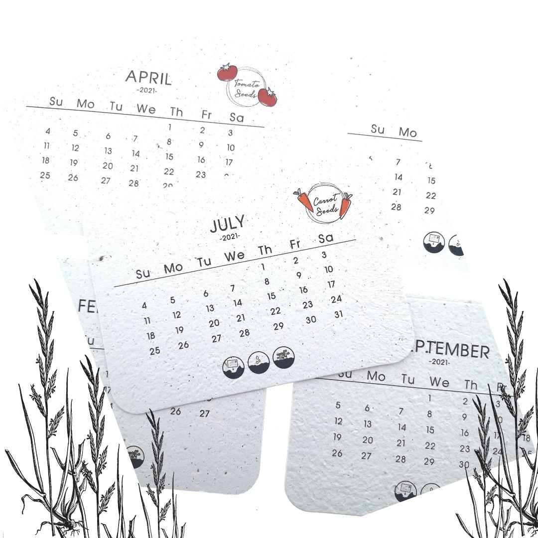 Plantbare kalender 2021-2