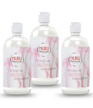 Drei Flaschen Nuru gel Classic 450ml