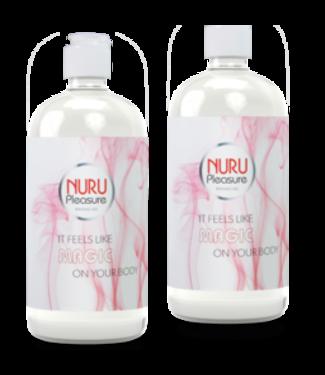 Zwei Flaschen Nuru gel Classic 450ml