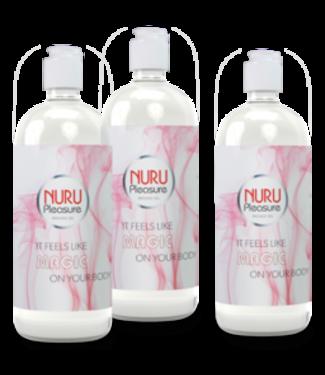Drei flaschen Nuru Gel Classic 250 ml
