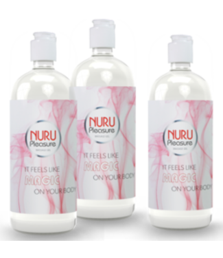Nuru Massage Gels van Nuru Nederland Drei flaschen Nuru Gel Classic 250 ml