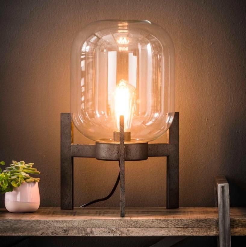 Zijlstra Glazen Tafels.Tafellamp Glas Support