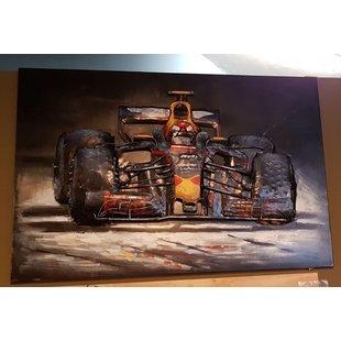 3D metaal schilderij  Formule 1 Max Verstappen