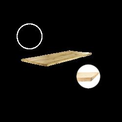 Tafelblad Rechte rand 260x100cm