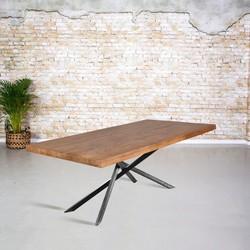 Eetkamertafel mangohout | Mikado poot