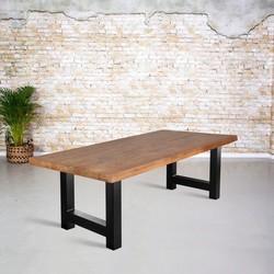 Eetkamertafel mangohout | H-poot