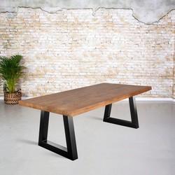 Eetkamertafel mangohout | Trapezium poot