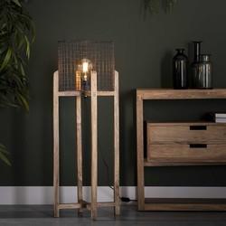 Vloerlamp Sandro houten frame