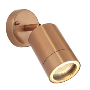 Saxby Odyssey Spot Wall IP44 35W - Copper Plate