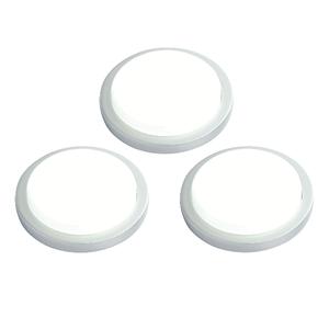 Saxby Santo Round Kit 1.5W SW Daylight White Cabinet - Silver Abs Plastic
