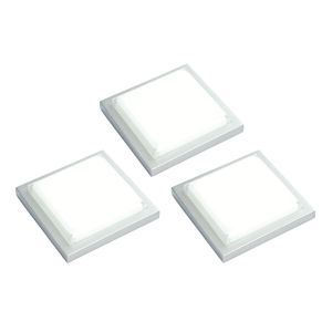 Saxby Santo Square Kit 1.5W SW Daylight White Cabinet - Silver Abs Plastic