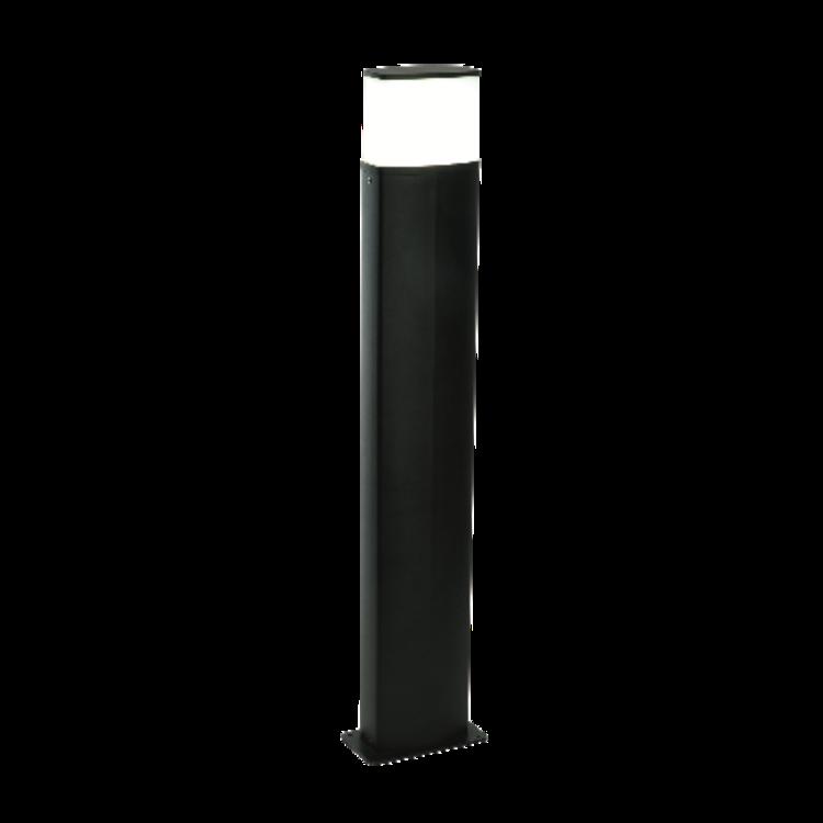 Saxby Tiesto Bollard IP44 10W Cool White Floor - Textured Black