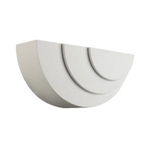 Saxby Ripple 1 Light Arc Wall 3W Warm White - White Plaster