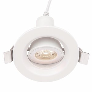 Saxby Defender 5W Cool White Recessed - White Abs Plastic