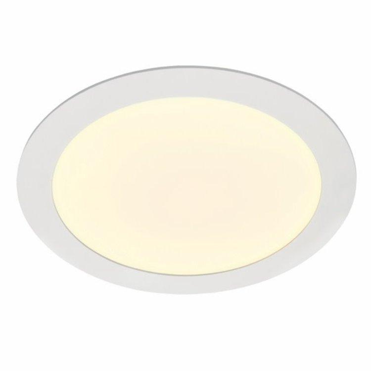 Saxby Helana 18W warm white recessed - matt white