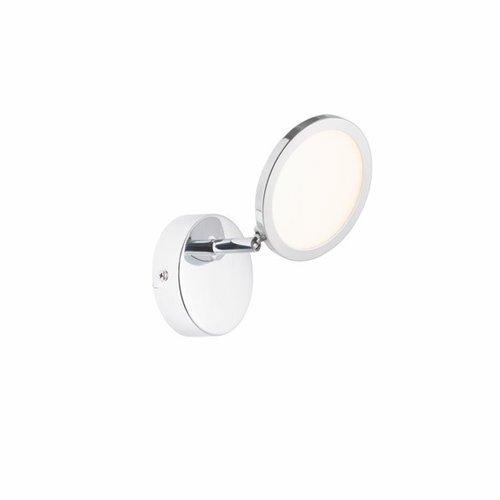 Endon Pluto 1 Light plate 5W warm white spot - chrome plate