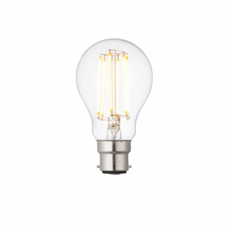 Saxby B22 LED Filament GLS Dimmable 8W Warm White Accessory - Clear Glass
