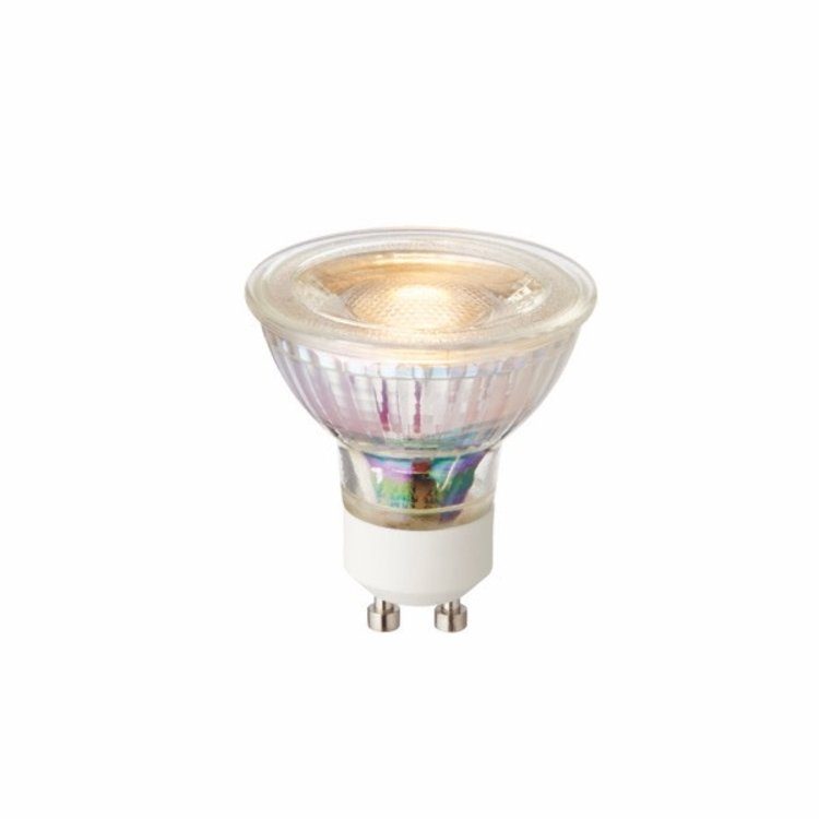 Saxby GU10 LED Cob Dimmable 4W Warm White Accessory - Clear Glass