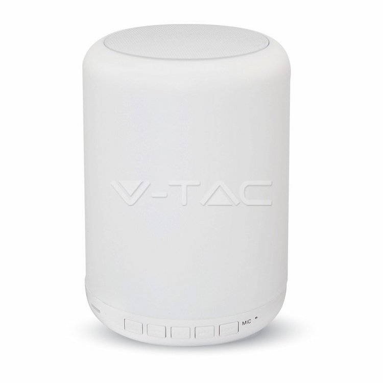 V-Tac Dimmable Table Lamp With Smart Speaker V-Tac 3W RGB+WW Bluetooth Radio