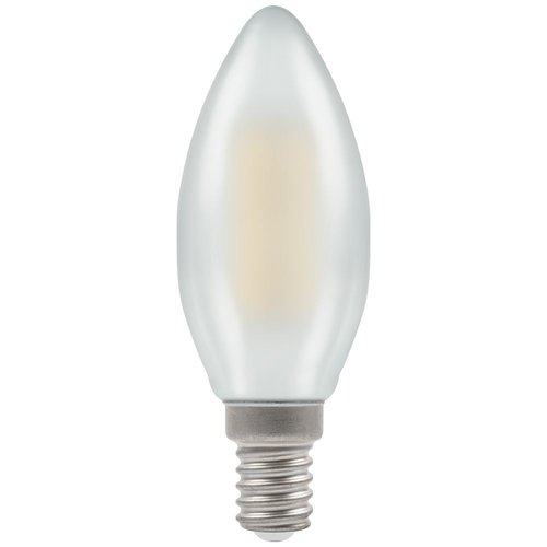 Crompton LED Candle Filament Pearl • Dimmable • 5W • 2700K • SES-E14