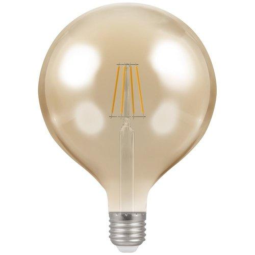 Crompton LED Globe G125 Filament Antique • Dimmable • 7.5W • 2200K • ES-E27