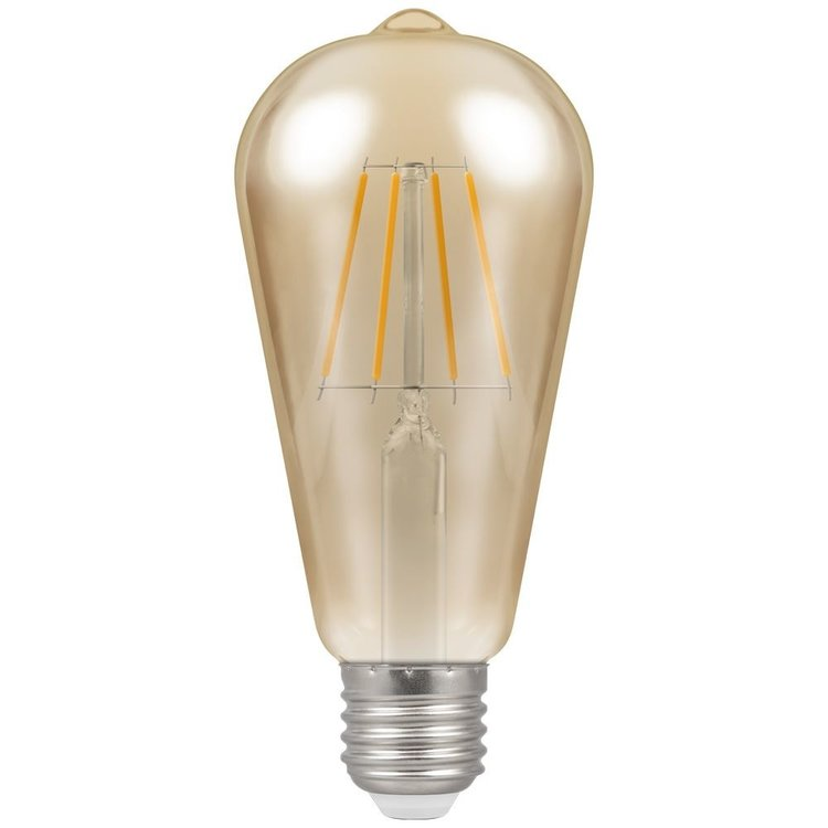Crompton LED Filament ST64 Squirrel Dimmable 7.5W 240V 2200K ES-E27