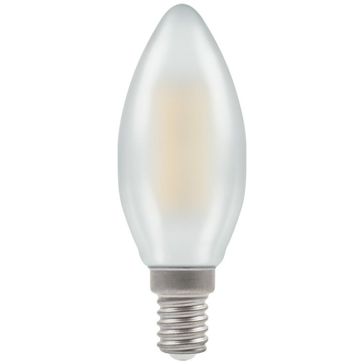 Crompton LED Candle Filament Pearl Dimmable 2700K 470Lm E14