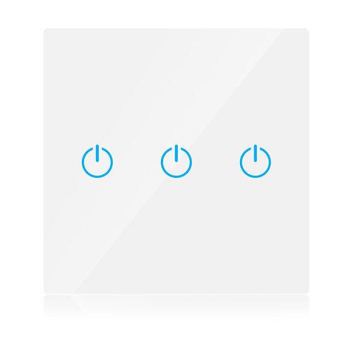V-Tac V-Tac Smart 3 Gang Wifi Switch White