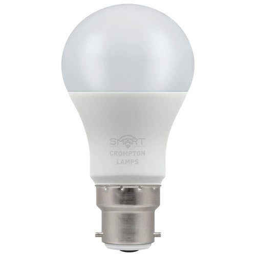 Crompton LED Smart GLS 8.5W Dimmable RGBW 3000K BC-B22d