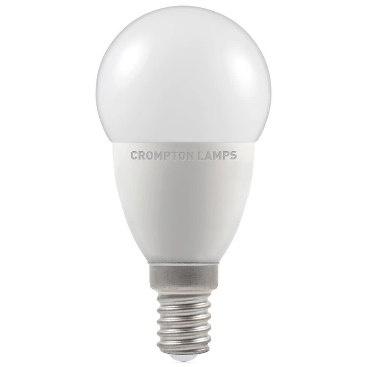 Crompton LED Round Thermal Plastic Dimmable 5.5W 4000K SES-E14