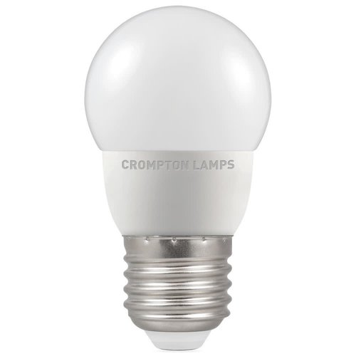 Crompton 5.5 E27 4000K 470LM LED Round Thermal Plastic Opal Dimmable