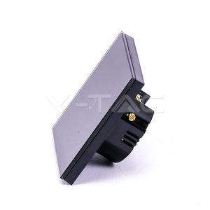 V-Tac V-Tac Smart 2 Gang Wifi Switch Black
