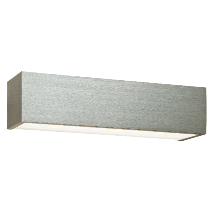 Saxby Shale 1 Light Wall 8W Warm White - Brushed Silver Anodised