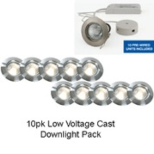 Trade Core 10 Light Recessed Brushed Chrome