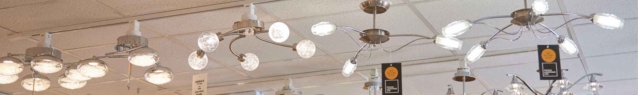 The Factory Shop semi flush ceiling lights