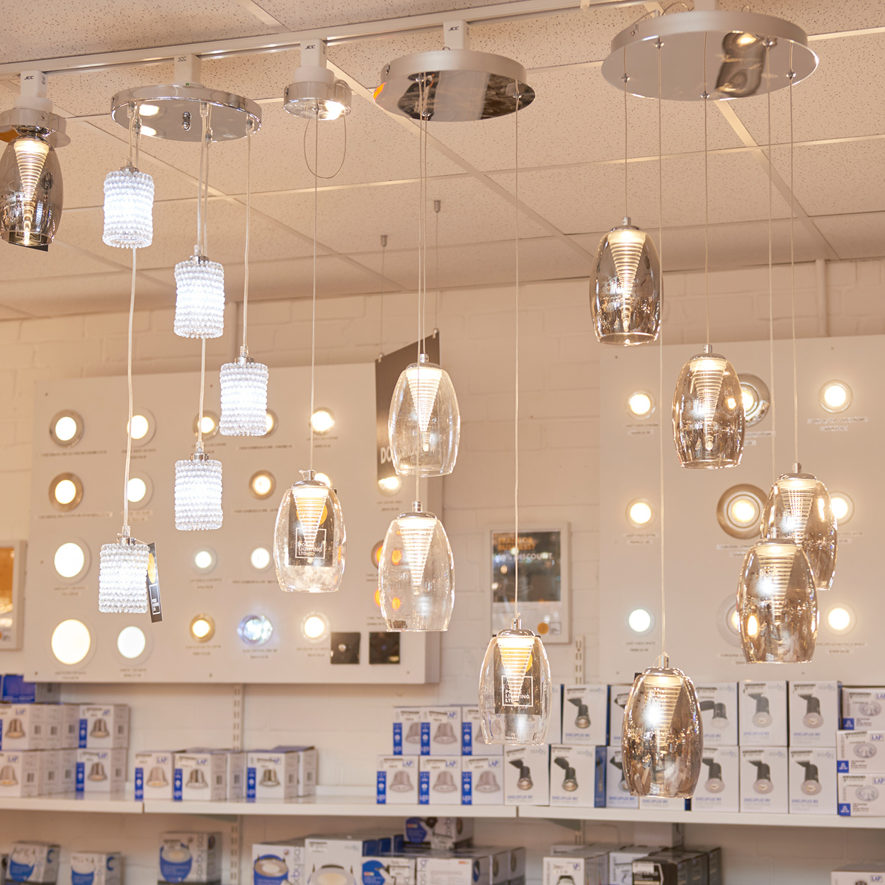 Poole Lighting The Factory Shop ceiling lights