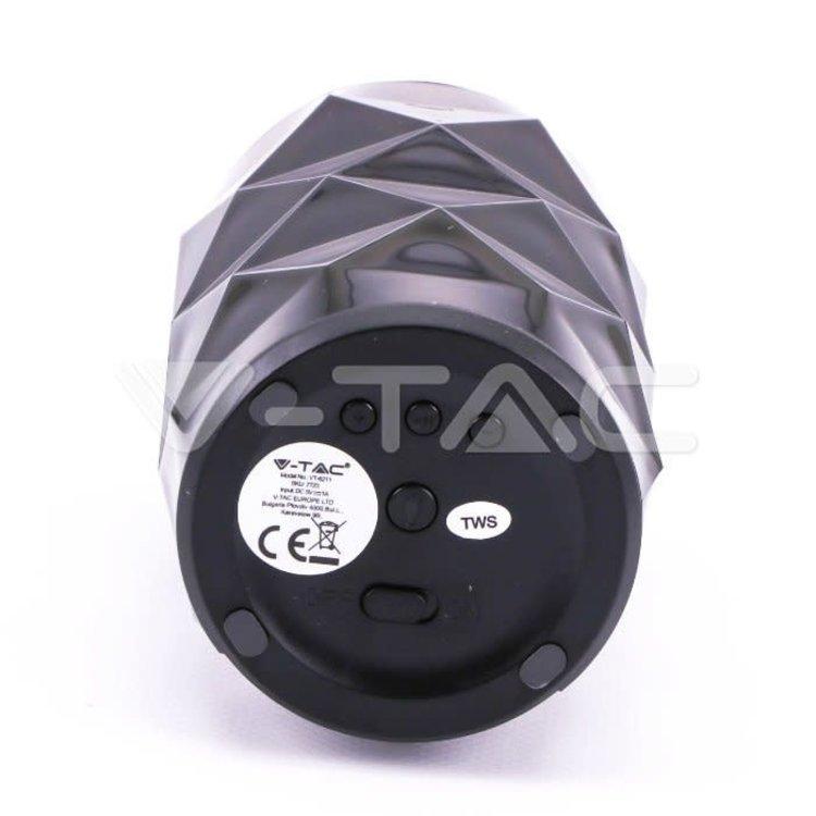 V-Tac V-Tac Portable Bluetooth Speaker Crystal With RGB Function