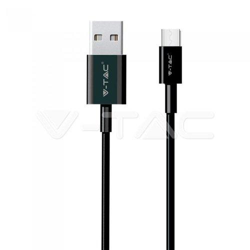 V-Tac V-Tac 1m. Type C USB Cable Black - Silver Series