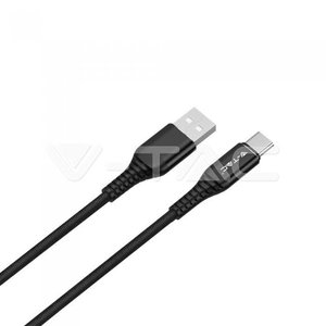 V-Tac V-Tac 1m. Type C USB Cable Black - Gold Series