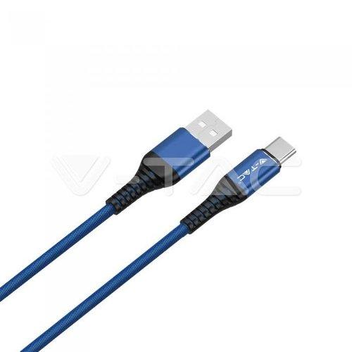 V-Tac V-Tac 1m. Type C USB Cable Blue - Gold Series