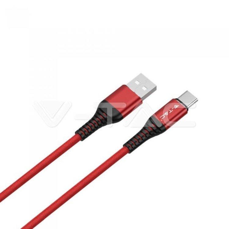 V-Tac V-Tac 1m. Type C USB Cable Red - Gold Series