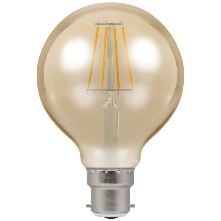 Crompton LED Globe G80 Filament Antique 5W Dimmable 2200K BC-B22d