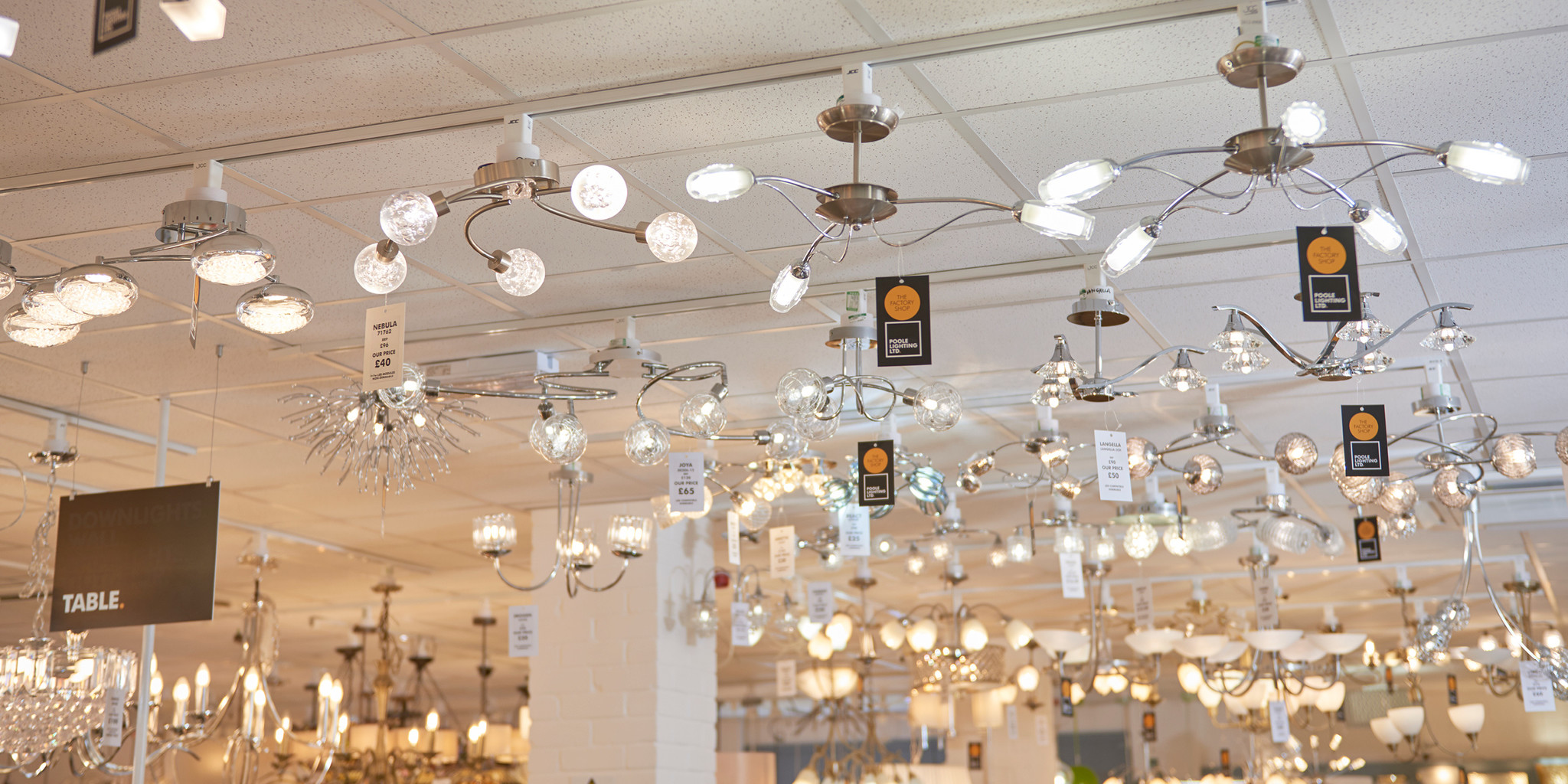 The Factory Shop ceiling lights