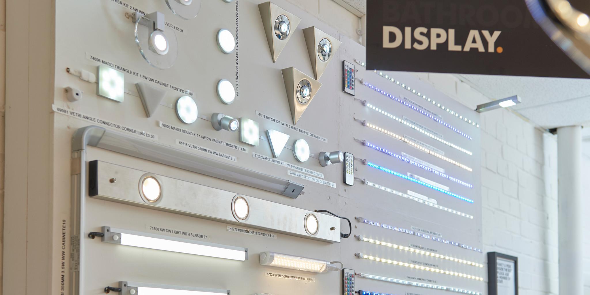 The Factory Shop undercabinet kitchen lights