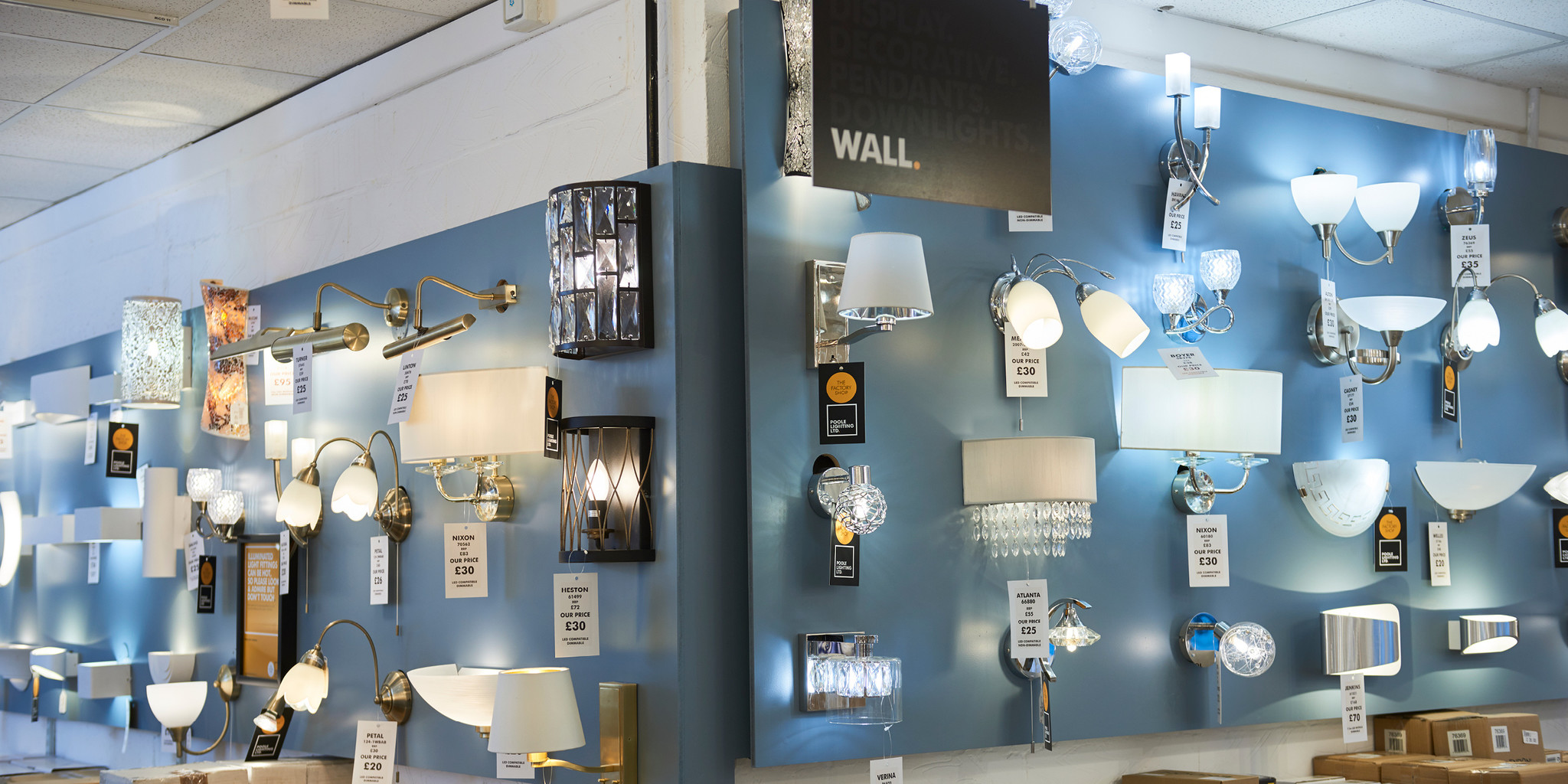 The Factory Shop wall lights