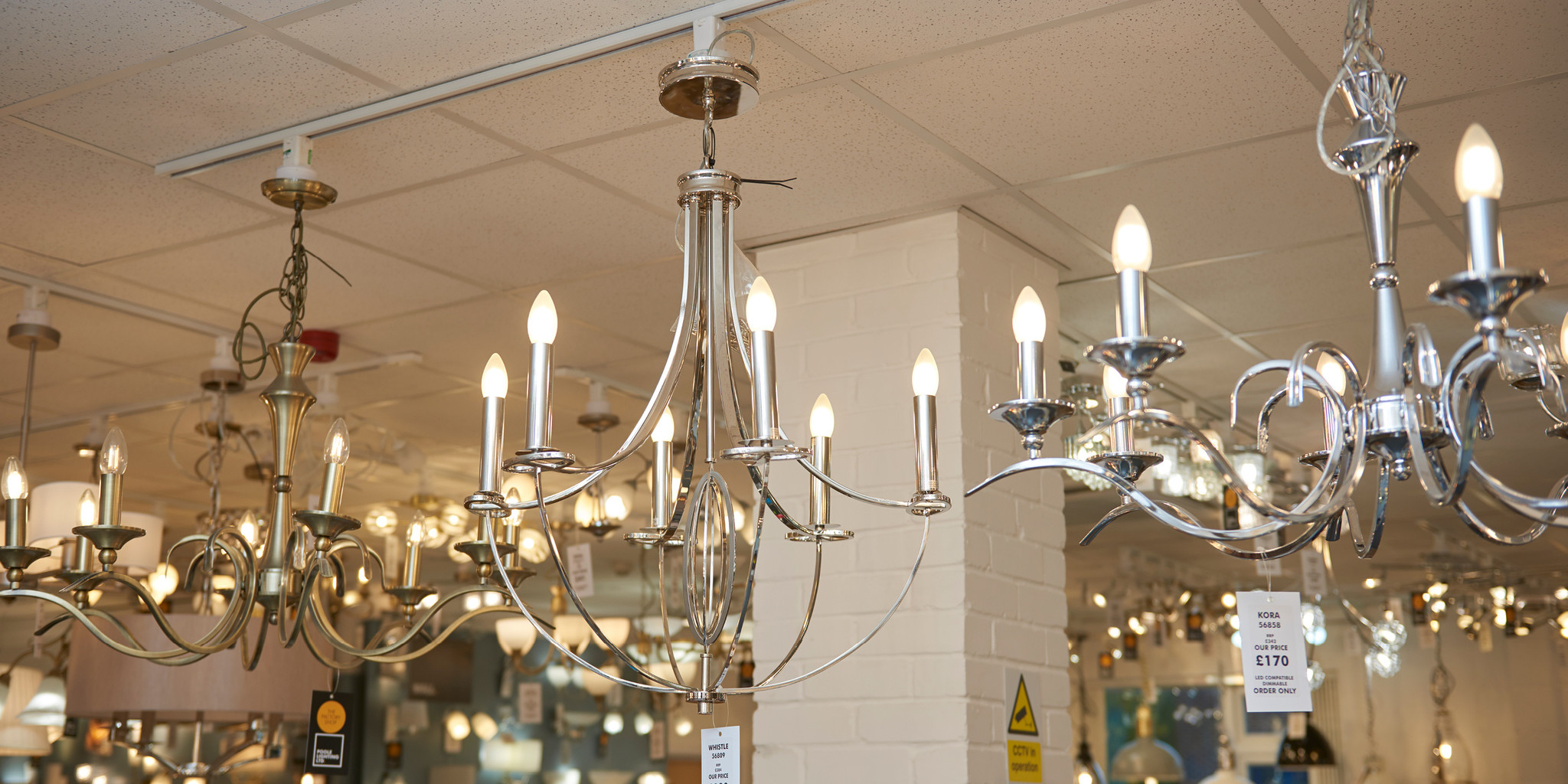 The Factory Shop hanging ceiling lights