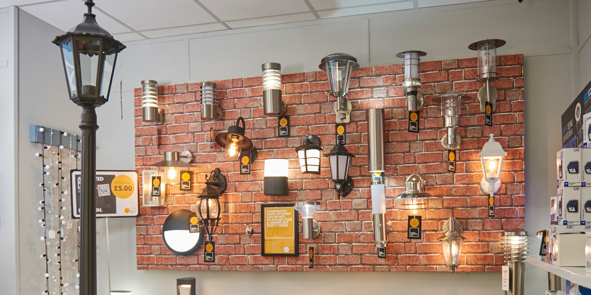 The Factory Shop outdoor lights