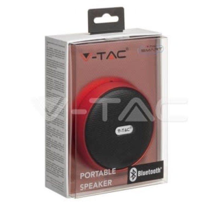 V-Tac V-Tac Portable Bluetooth Speaker Micro USB High End Cable 800mah Battery Red