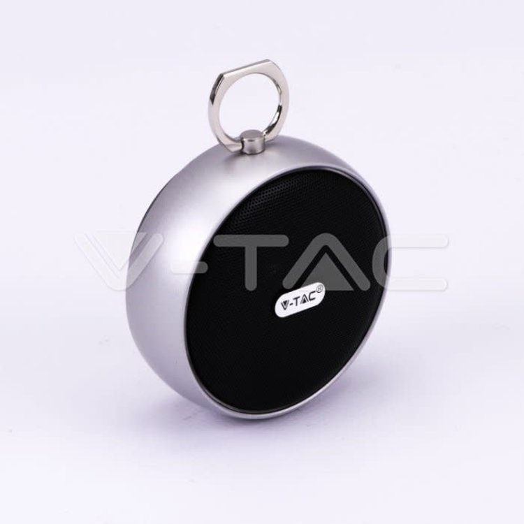 V-Tac V-Tac Portable Bluetooth Speaker Micro USB High End Cable 800mah Battery Silver